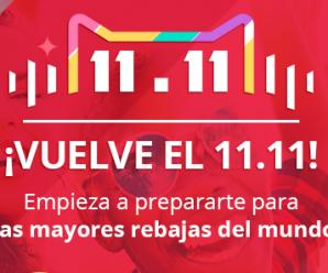 Llega el tan esperado 11.11 de AliExpress descuento mundiales