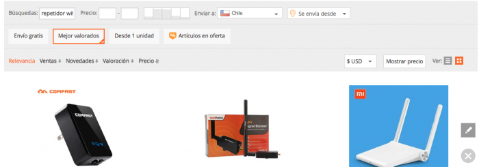 repetidor wifi en aliexpress
