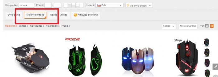 comprar mouse en aliexpress