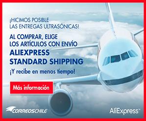 """AliExpress y Correos de Chile: productos con entregas Ultrasónicas """"Standard Shipping"""""""