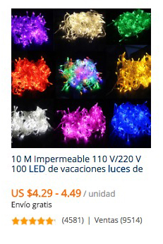 comprar luces para navidad en aliexpress