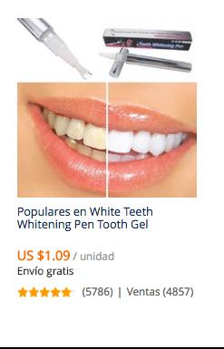 comprar blanqueador de dientes en china