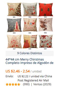 comprar fundas para cojines en aliexpress desde Chile