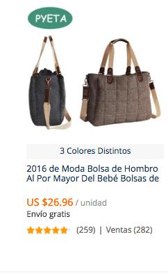 comprar bolso maternal pañalero en aliexpress
