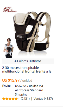 comprar portabebe en aliexpress china