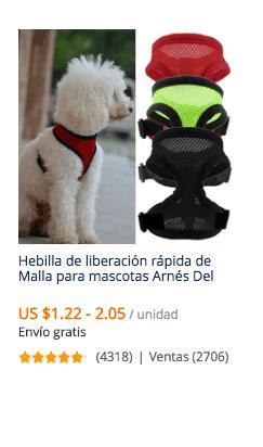 comprar arnes para perro en china