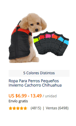 comprar ropa para perro en aliexpress