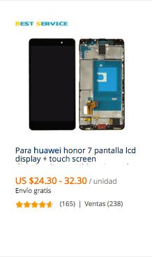 comprar pantalla huawei en aliexpress