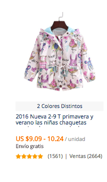 comprar parka para niñas en aliexpress