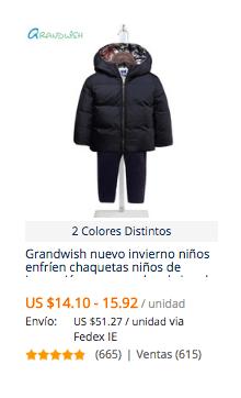 comprar ropa invierno niño en aliexpress