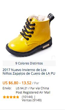 comprar zapatillas para niñas en aliexpress