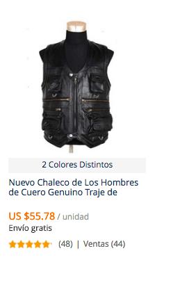 comprar chaqueta cuero hombre en aliexpress