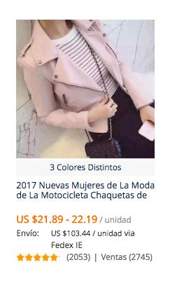 comprar chaqueta de cuero en aliexpress