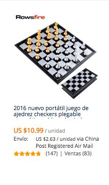 comprar ajedrez en aliexpress desde chile