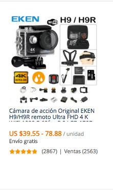 comprar camara deportiva 4k en aliexpress