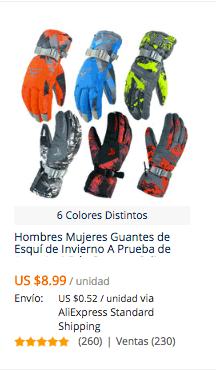 comprar guantes de nieve en aliexpress