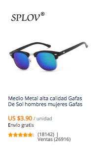 comprar gafas de sol en aliexpress