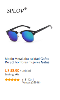 comprar gafas en china