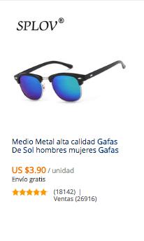 4ff0f17eef Cómo buscar y comprar gafas de sol baratas en AliExpress | Comprar ...