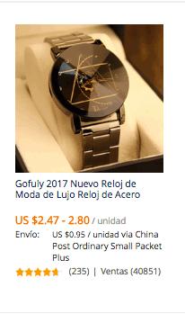 comprar reloj en china