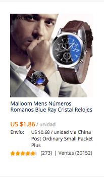 comprar reloj economico en aliexpress