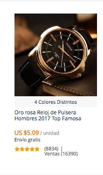 comprar reloj barato para hombre en aliexpres