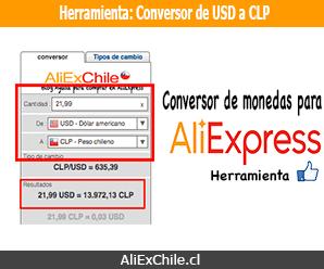 Herramienta: Convertidor de dólares USD a pesos chilenos CLP
