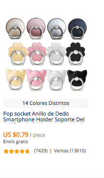comprar popsocket en china