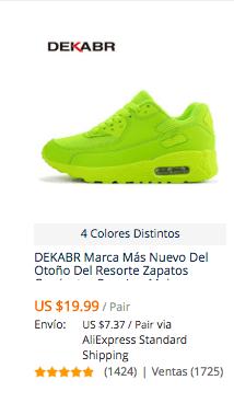 compra zapatillas para mujer en aliexpress
