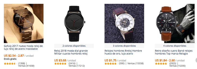 cfaf5434b73e Relojes para hombre baratos en AliExpress más vendidos