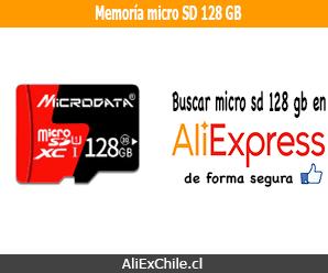 Comprar memoria micro SD de 128 GB en AliExpress