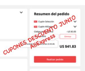 Cupones de descuento Junio en AliExpress ofertas de mitad año