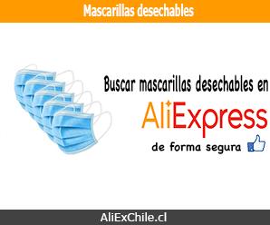 Comprar mascarillas desechables en AliExpress