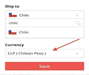 ¿Cómo puedo en AliExpress Chile ver los precios en pesos chilenos?